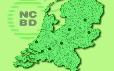 Nederland kaart NCBD afdelingen 2020 kleur groen